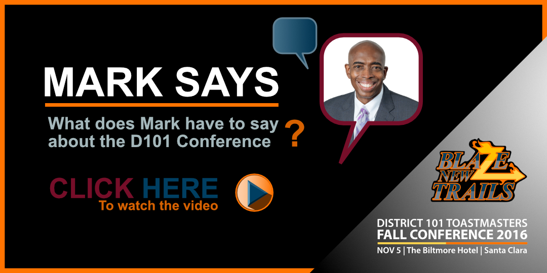 Click for Mark Brown's video message to District 101