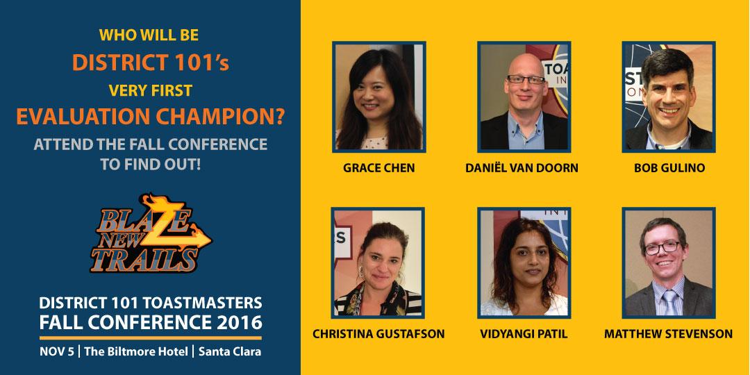 District 101 Evaluation Contest Contestants