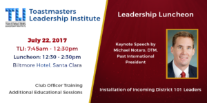 TLI and Leadership Luncheon - July 22, 2017 - click for details and to register