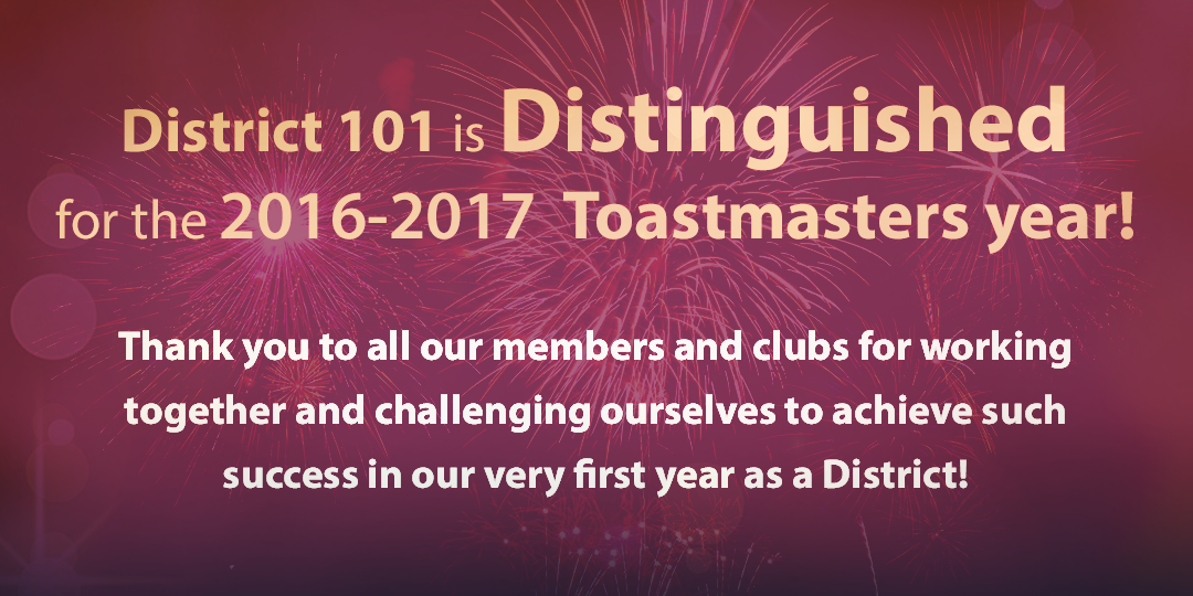 District 101 is Distinguished!