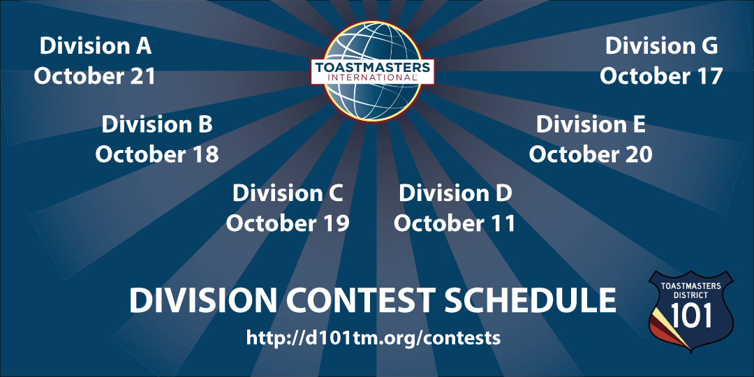 Fall Division Contest Schedule