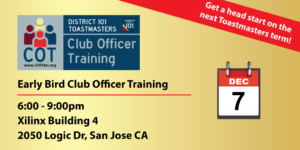 Early Bird Training - December 7 at Xilinx