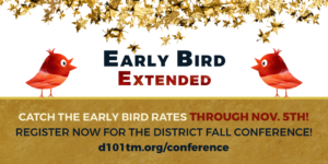 Early Bird Discount Extended to November 5th