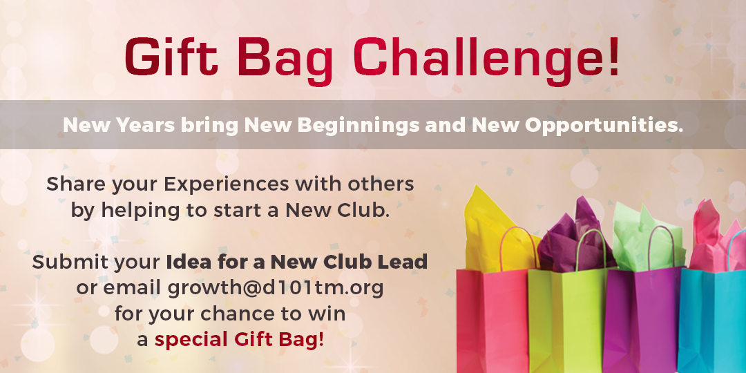 Submit New Club Leads to win a Special Gift Bag