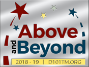 Above and Beyond - 2018-19 District 101 theme