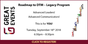 Great Events - Roadmap to DTM